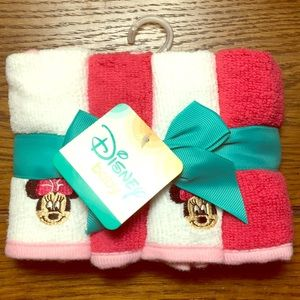 Disney baby Minnie mouse SOFT set 4 washcloths new